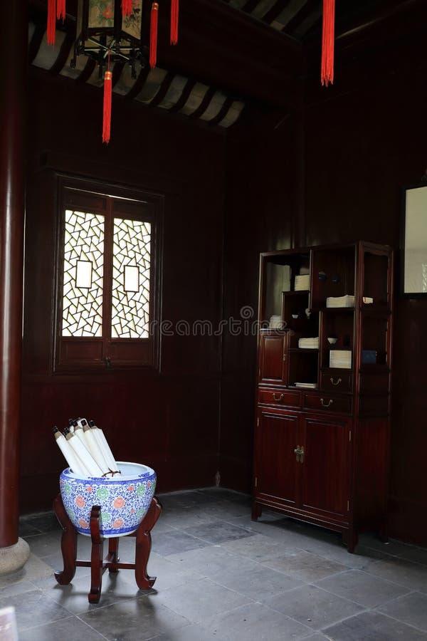 Μια κινεζική αρχαία μελέτη στοκ φωτογραφία με δικαίωμα ελεύθερης χρήσης