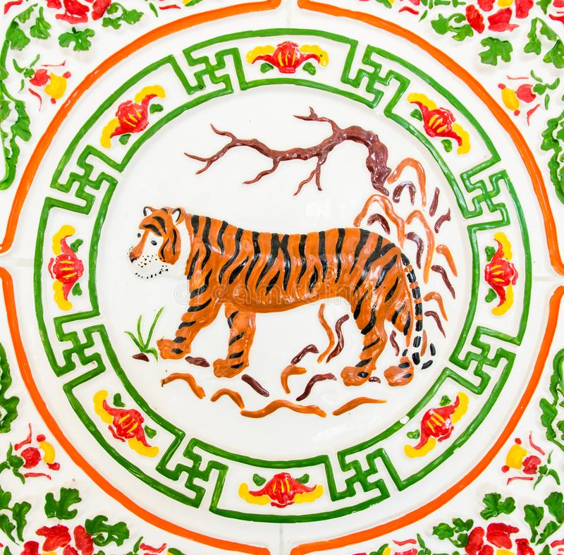 Μια κινεζική τίγρη στοκ φωτογραφίες