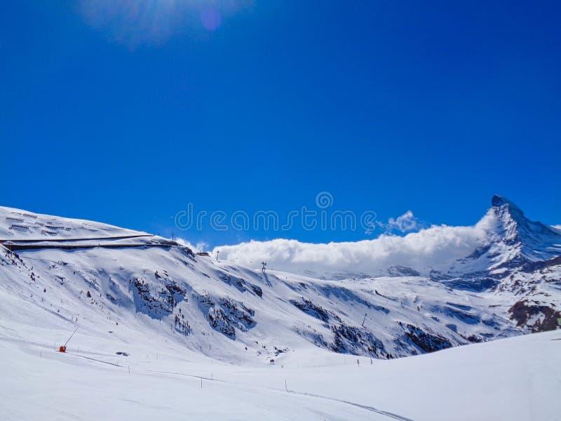μια κλίση στα ελβετικά όρη στοκ εικόνες με δικαίωμα ελεύθερης χρήσης
