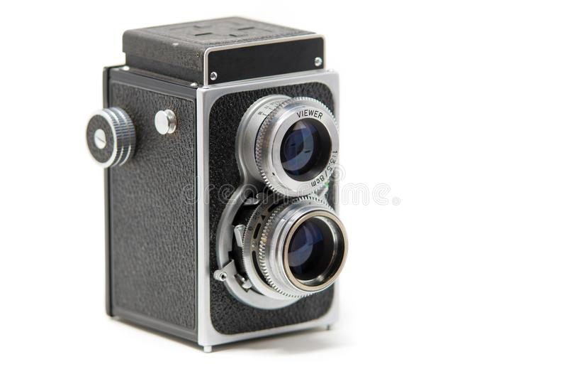 Μια κλασική δίδυμη ανακλαστική κάμερα φακών στοκ εικόνες