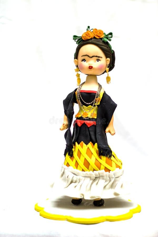 Μια κούκλα Frida Kahlo στοκ εικόνα