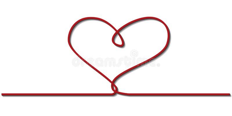 Μια κόκκινη κορδέλλα υπό μορφή καρδιάς στοκ εικόνες με δικαίωμα ελεύθερης χρήσης