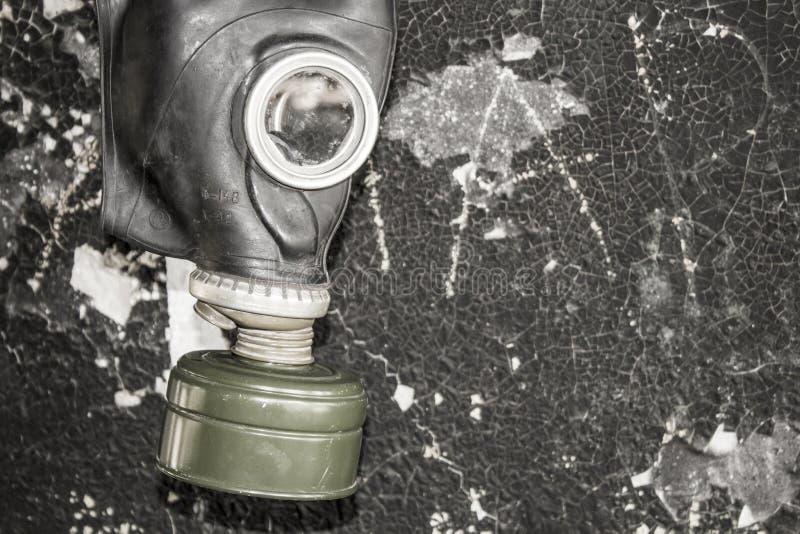 Μια μάσκα αερίου Η απειλή της οικολογίας στοκ φωτογραφίες με δικαίωμα ελεύθερης χρήσης