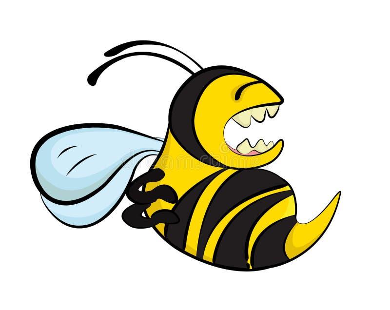 Μια μέλισσαη ελεύθερη απεικόνιση δικαιώματος