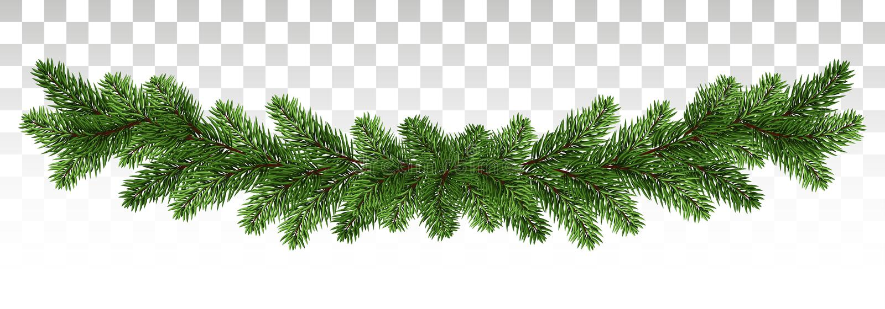 Μια μακριά γιρλάντα των κλάδων πεύκων Πλαίσιο πεύκων Χειμερινό deco διακοπών ελεύθερη απεικόνιση δικαιώματος