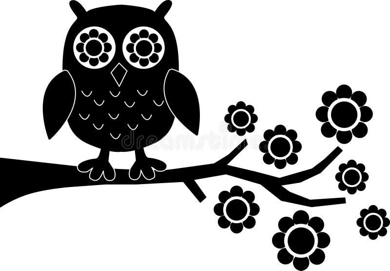 Μια μαύρη κουκουβάγια απεικόνιση αποθεμάτων
