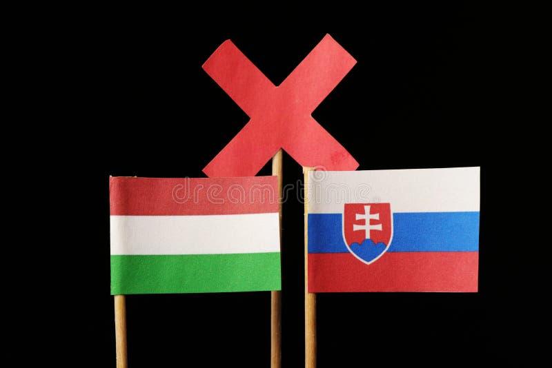Μια μεγάλες ανταγωνιστικότητα και μια έχθρα μεταξύ εκείνων των εδαφών Ουγγαρία και Σλοβακία στοκ φωτογραφίες με δικαίωμα ελεύθερης χρήσης
