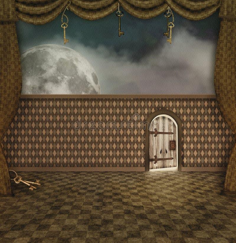 Μια μικρή πόρτα ελεύθερη απεικόνιση δικαιώματος