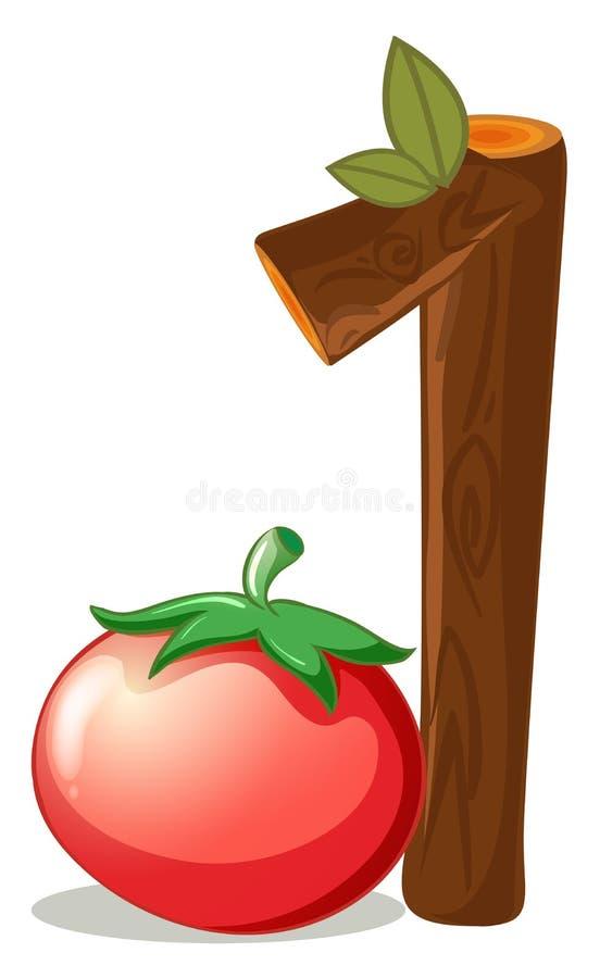 Μια ντομάτα απεικόνιση αποθεμάτων