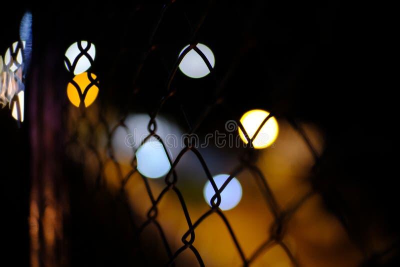 Μια νύχτα με τα μουτζουρωμένα φω'τα στοκ φωτογραφία με δικαίωμα ελεύθερης χρήσης