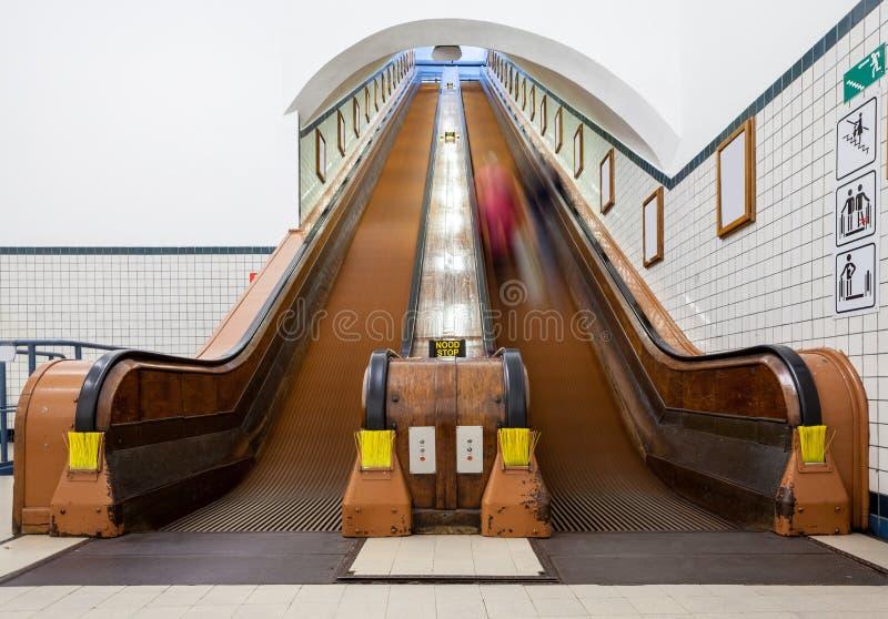 Μια ξύλινη κυλιόμενη σκάλα στοκ φωτογραφία με δικαίωμα ελεύθερης χρήσης