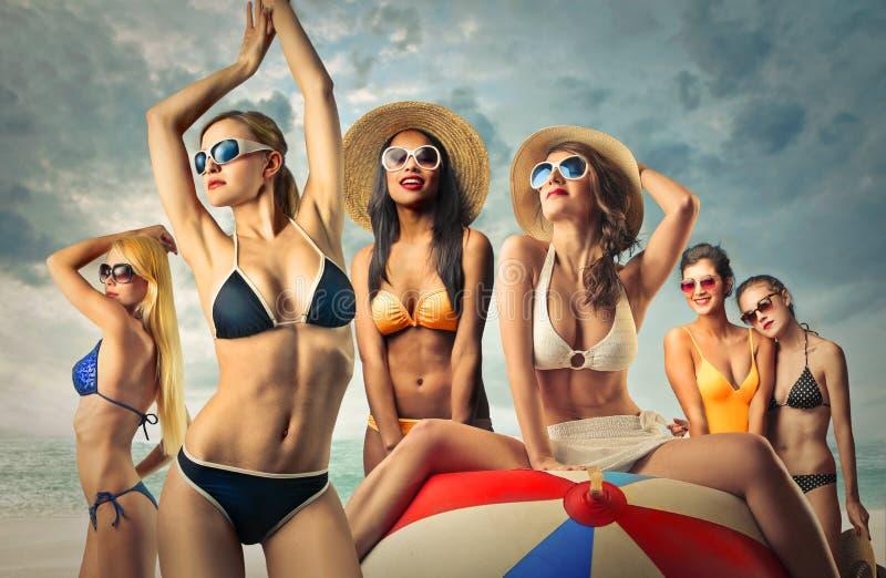 Μια ομάδα κοριτσιών στοκ εικόνα