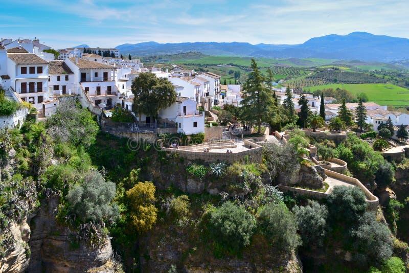 Μια πανοραμική άποψη της πόλης της Ronda, Ισπανία στοκ εικόνες με δικαίωμα ελεύθερης χρήσης