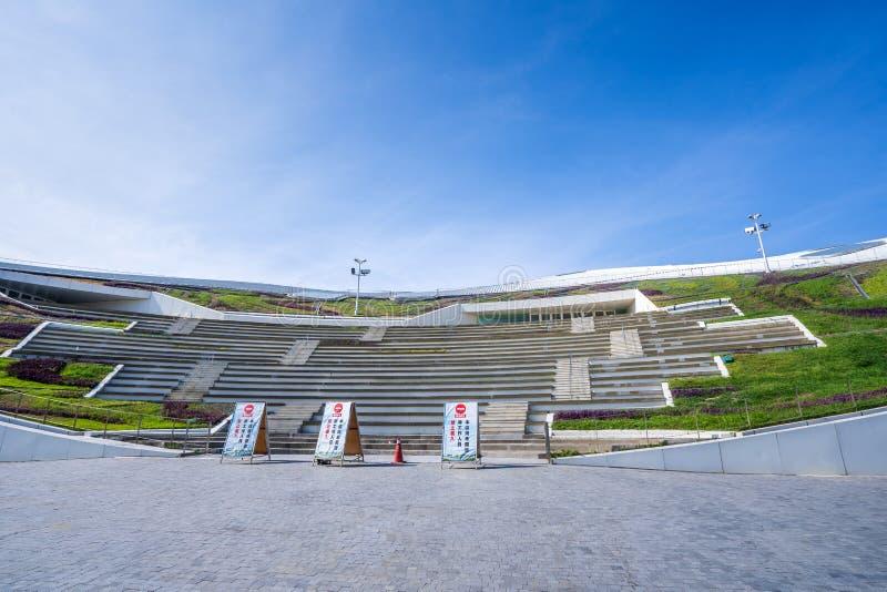 Μια πανοραμική άποψη του πρόσφατα ολοκληρωμένου εθνικού κέντρου για τις τέχνες προς θέαση στοκ εικόνες με δικαίωμα ελεύθερης χρήσης