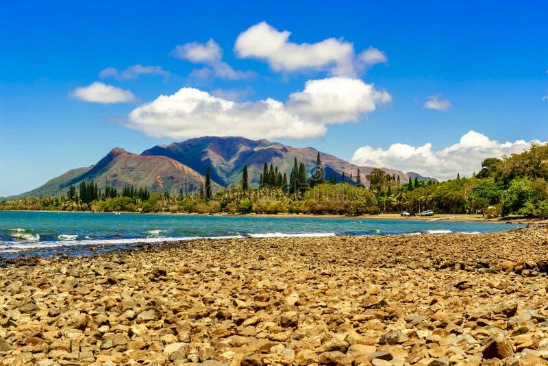 Μια παραλία χαλικιών στη Νέα Καληδονία στοκ φωτογραφία με δικαίωμα ελεύθερης χρήσης