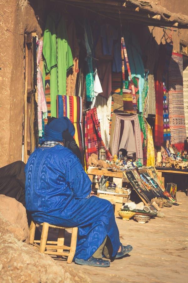 Μια παραδοσιακή αγορά στην παλαιά πόλη Essaouira, Μαρόκο στοκ φωτογραφίες
