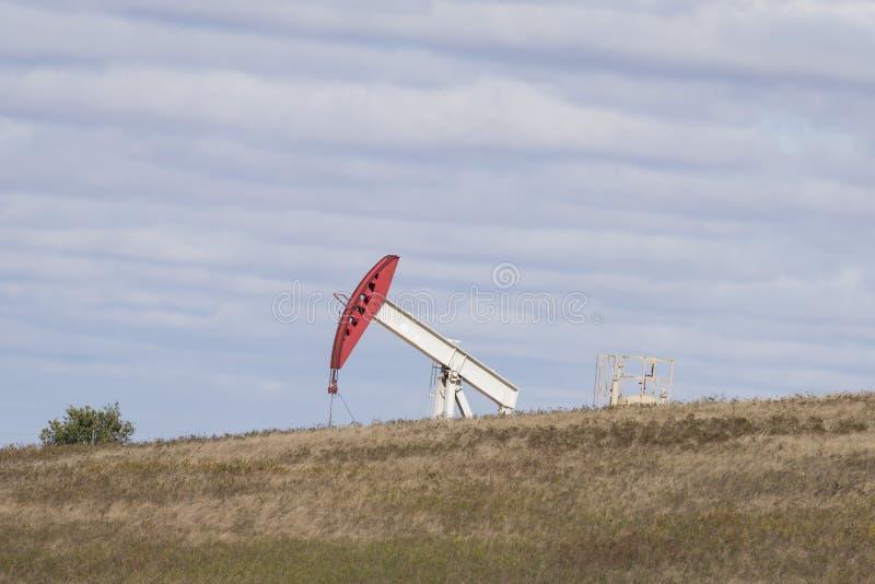 Μια πετρελαιοπηγή στη βόρεια Ντακότα στοκ εικόνα με δικαίωμα ελεύθερης χρήσης