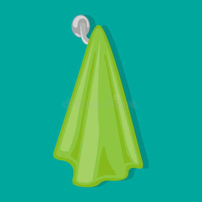 Μια πετσέτα ζυγίζει στον κάτοχο πετσετών επίσης corel σύρετε το διάνυσμα απεικόνισης διανυσματική απεικόνιση