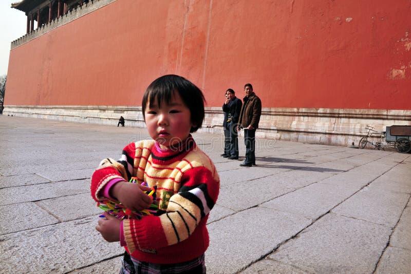 Μια πολιτική παιδιών στην Κίνα στοκ εικόνες