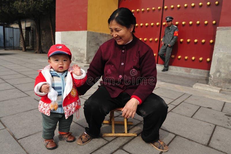 Μια πολιτική παιδιών στην Κίνα στοκ εικόνες με δικαίωμα ελεύθερης χρήσης