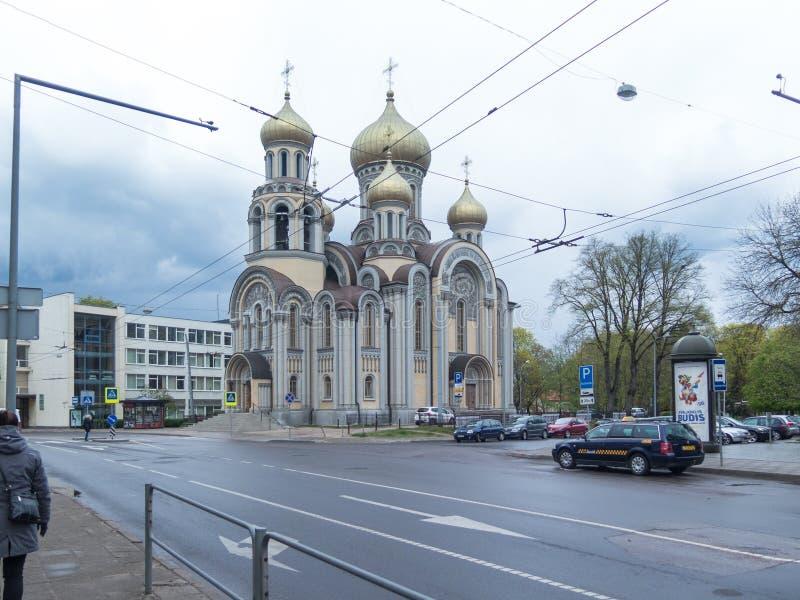 Μια πολύ παλαιά εκκλησία σε Vilnius στοκ εικόνα