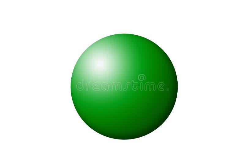 Μια πράσινη σφαίρα ελεύθερη απεικόνιση δικαιώματος