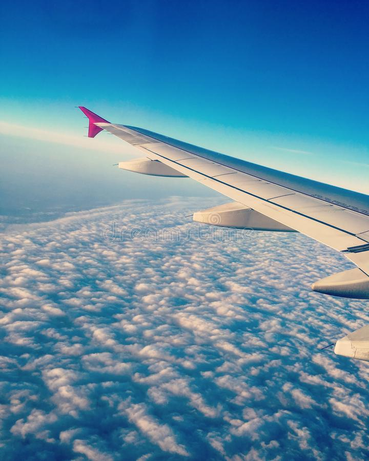 Μια πτήση στο Παρίσι στοκ εικόνες με δικαίωμα ελεύθερης χρήσης