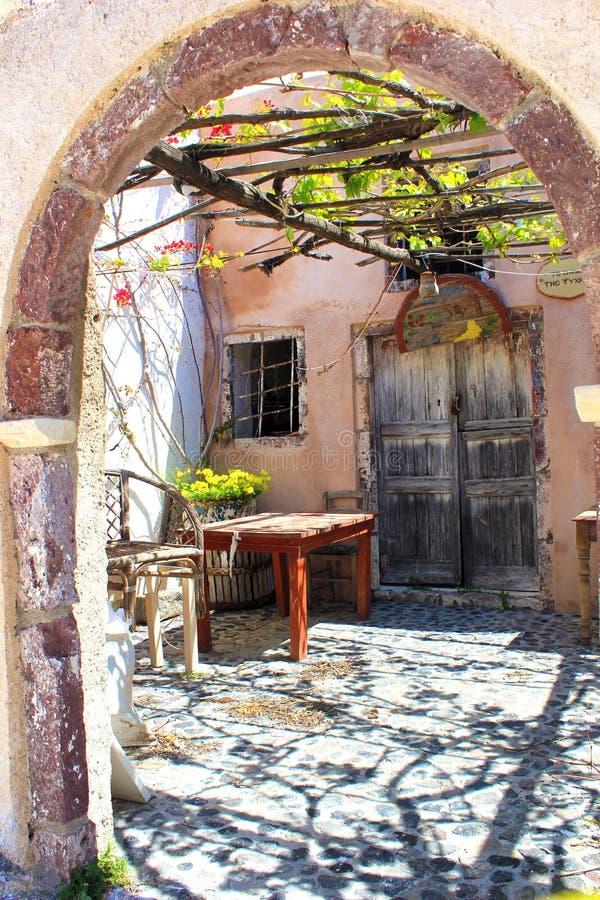 Μια πόρτα σε Santorini στοκ φωτογραφία