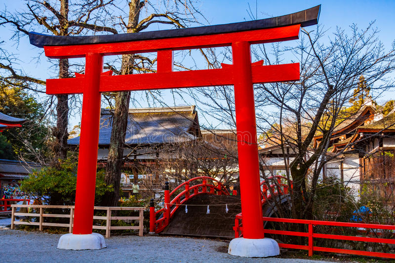 Μια πύλη της ιαπωνικής λάρνακας στοκ φωτογραφία με δικαίωμα ελεύθερης χρήσης