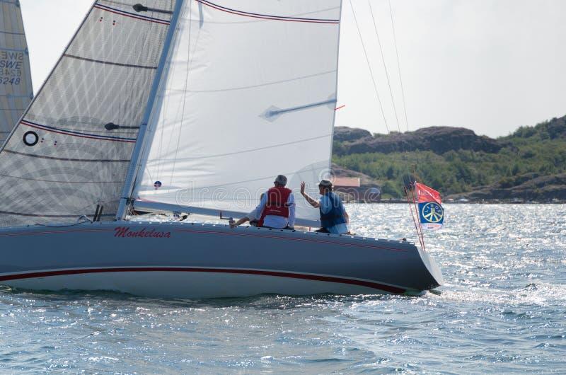 Μια πλέοντας βάρκα σε έναν ανταγωνισμό στη Σουηδία στοκ φωτογραφίες με δικαίωμα ελεύθερης χρήσης
