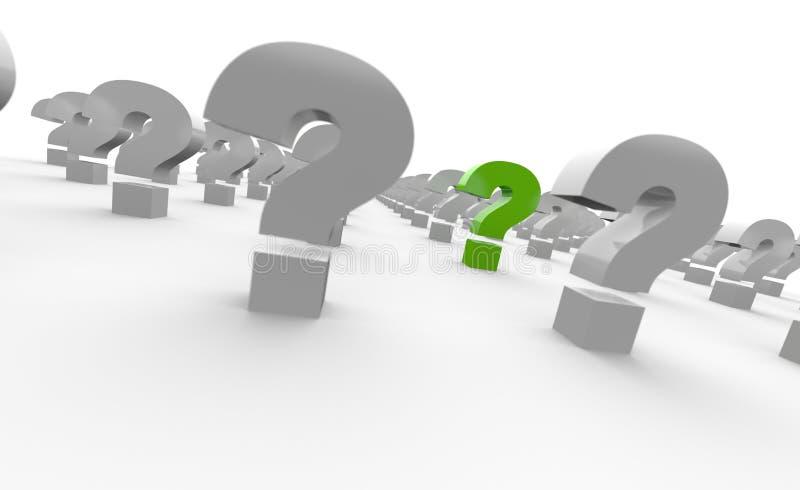 Μια σειρά ερωτηματικών ελεύθερη απεικόνιση δικαιώματος