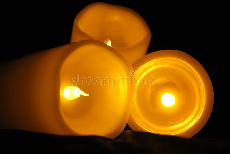 Μια σειρά νύχτας LIT κεριών: Φωτογραφία 5 στοκ φωτογραφίες με δικαίωμα ελεύθερης χρήσης