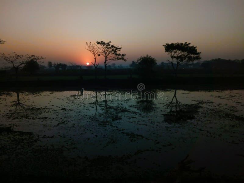 Μια σιωπηλή λίμνη στοκ φωτογραφία