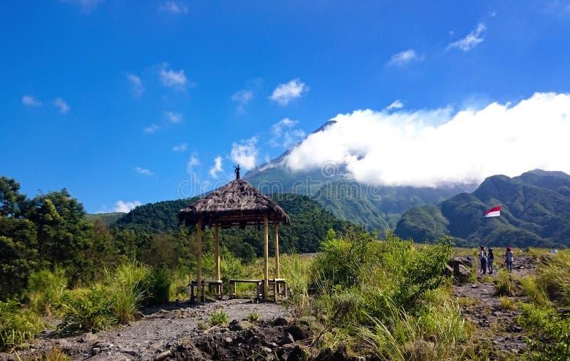 Μια σκηνή κοντά στο βουνό στοκ φωτογραφία