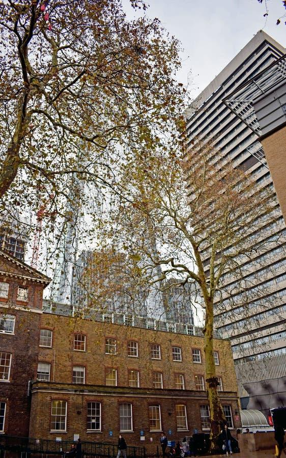 Μια σκηνή πόλεων του Λονδίνου στην Αγγλία στοκ φωτογραφία με δικαίωμα ελεύθερης χρήσης