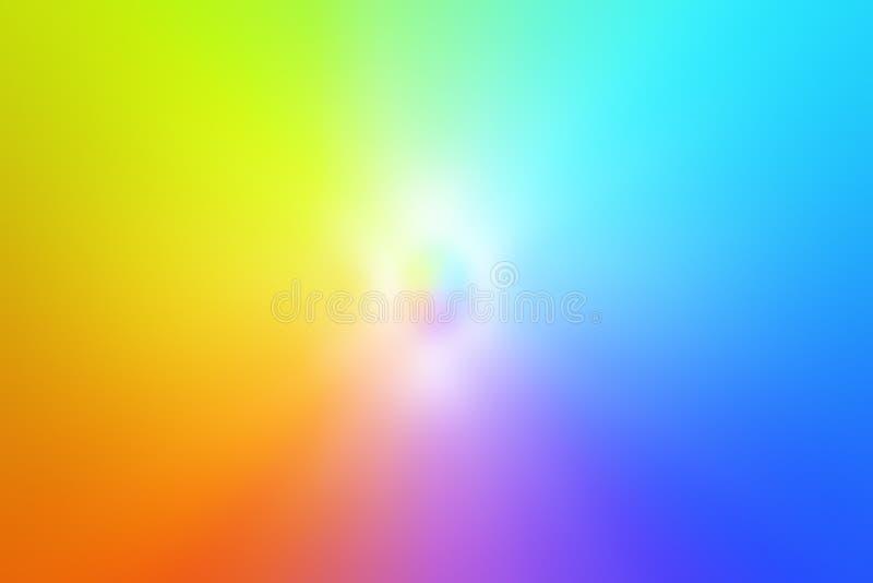 Μια σκιά των φωτεινών χρωμάτων που κυμαίνονται από κίτρινο ως πράσινο, από μπλε στο μπλε, ροζ και από κόκκινο σε κίτρινο στοκ εικόνα με δικαίωμα ελεύθερης χρήσης