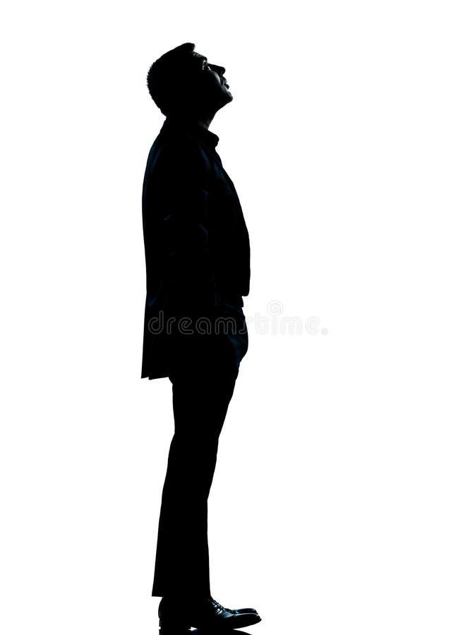 Μια σκιαγραφία επιχειρησιακών ατόμων που ανατρέχει στοκ φωτογραφίες