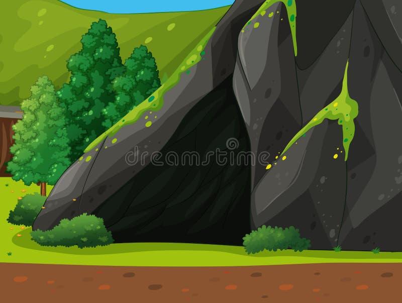 Μια σπηλιά ελεύθερη απεικόνιση δικαιώματος
