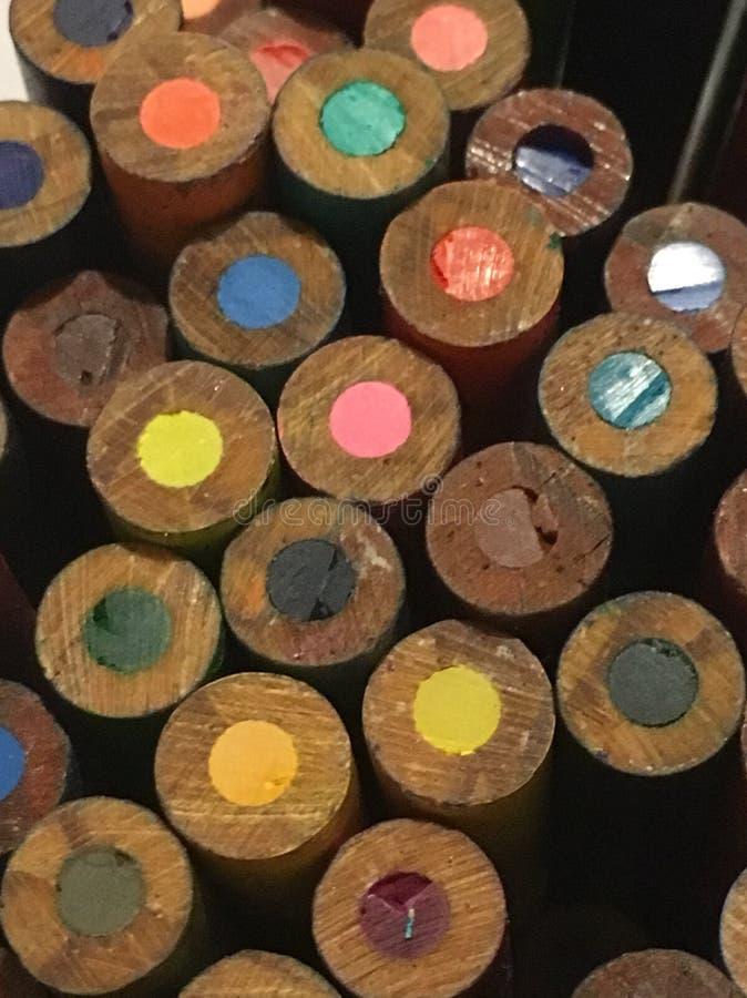 Μια στενή επάνω άποψη τα μολύβια στοκ εικόνες με δικαίωμα ελεύθερης χρήσης