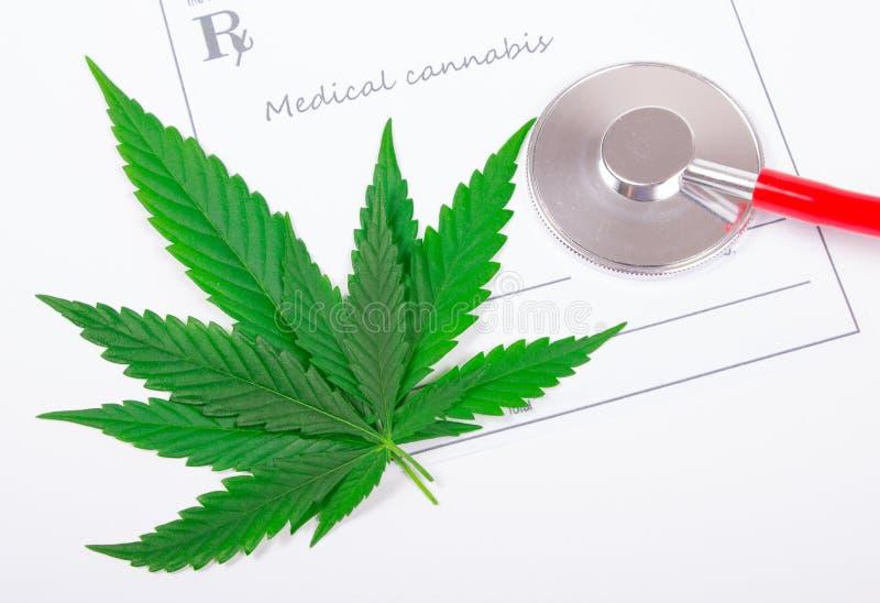 Μια συνταγή για την ιατρική μαριχουάνα στοκ εικόνες