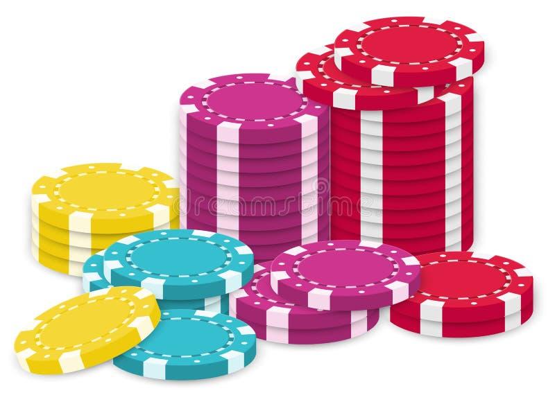 Μια συλλογή των τσιπ πόκερ απεικόνιση αποθεμάτων