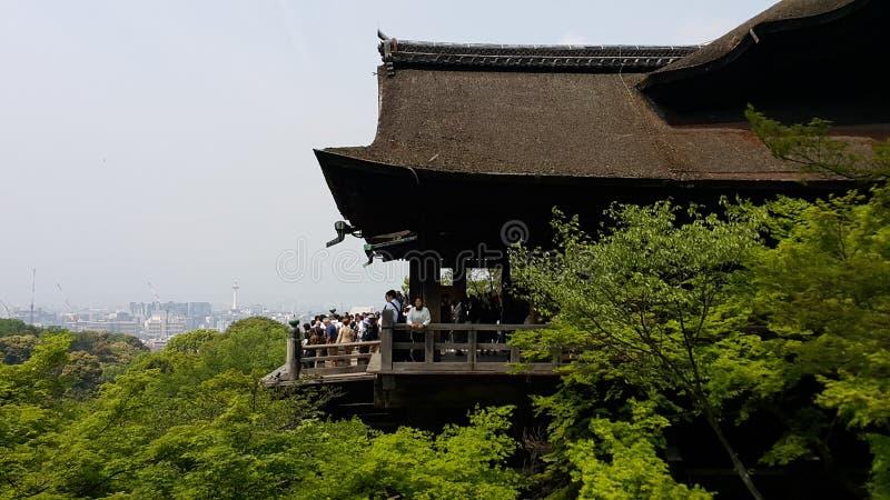 Μια τοπ άποψη από το ναό Kiyomizu στοκ εικόνες με δικαίωμα ελεύθερης χρήσης