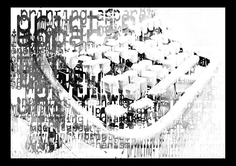 Μια τυπωμένη γραφομηχανή ελεύθερη απεικόνιση δικαιώματος