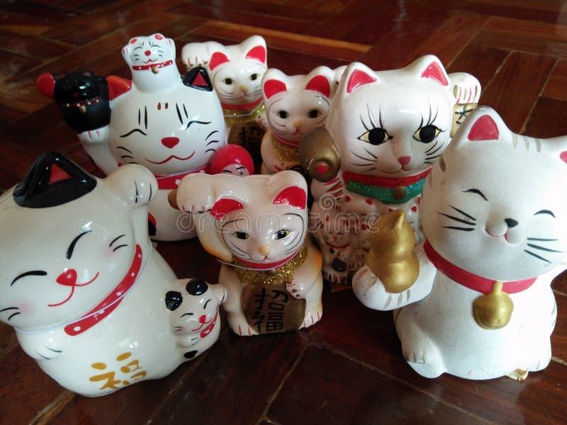 Μια τυχερή οικογένεια γατών στοκ εικόνες