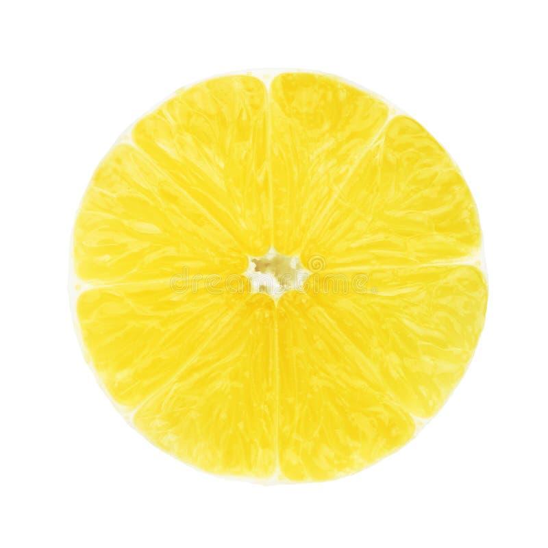 Μια φέτα του λεμονιού χωρίς φλούδα στοκ φωτογραφία