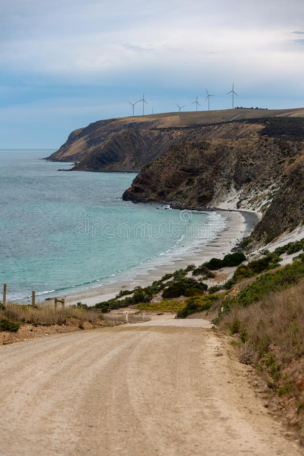 Μια φωτογραφία πορτρέτου του ακρωτηρίου Jervis παραλιών Morgans που παρουσιάζει το αμμοχάλικο στοκ φωτογραφίες με δικαίωμα ελεύθερης χρήσης