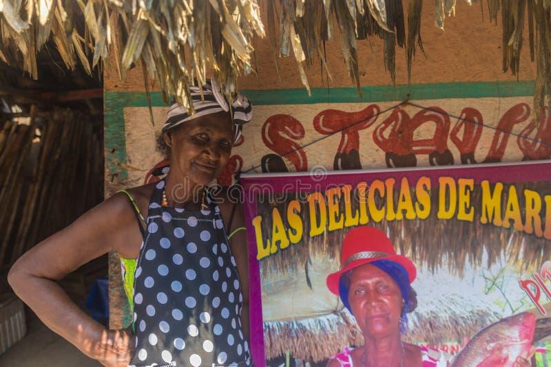 Μια χαρακτηριστική άποψη στην Καρχηδόνα στην Κολομβία στοκ εικόνα