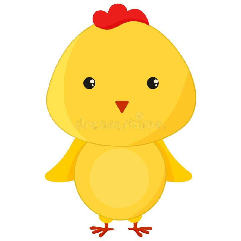 Μια χαριτωμένη απεικόνιση χαρακτήρα πουλιών κοτόπουλου κινούμενων σχεδίων απεικόνιση αποθεμάτων