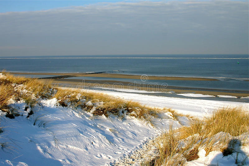 Μια χειμερινή παραλία στοκ φωτογραφία