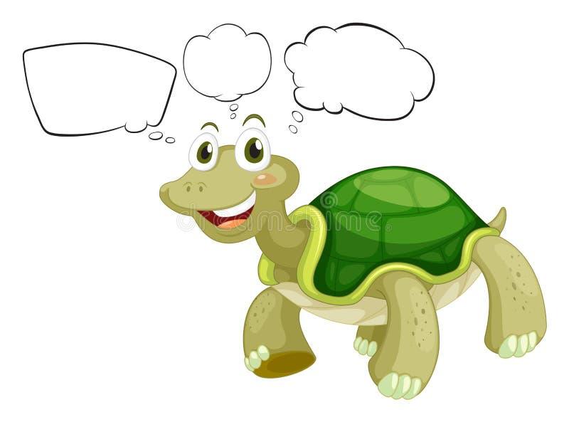 Μια χελώνα σκέψης διανυσματική απεικόνιση